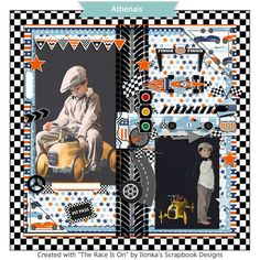 """""""The Race Is On"""" by #ilonkasscrapbookdesigns is the perfect scrapkit for race fans or for your boys scrapbook projects.  http://www.digiscrapbooking.ch/shop/index.php?main_page=index&manufacturers_id=131&zenid=505e549644797992fb6f20f38872706b  http://www.godigitalscrapbooking.com/shop/index.php?main_page=index&manufacturers_id=123  https://www.etsy.com/shop/Ilonkas?ref=hdr_shop_menu"""