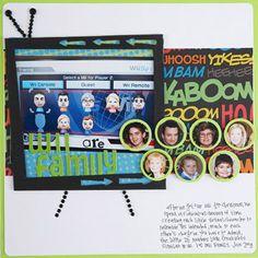 Wii Scrapbook Page seen at scrapbooksetc.com Design by Summer Johnson