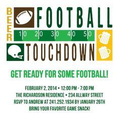 Touchdown Time - Party Invitations - Magnolia Press in Spruce Green