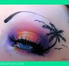 Exotic creative eye make-up! Crazy Eye Makeup, Creative Makeup Looks, Eye Makeup Art, Eye Art, Cute Makeup, Makeup Geek, Exotic Eye Makeup, Alien Makeup, 80s Makeup