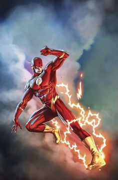 The Flash- dope pic of the flash Dc Heroes, Comic Book Heroes, Comic Books Art, Flash Barry Allen, Dc Comics Characters, Dc Comics Art, Flash Comics, Batman, Superman