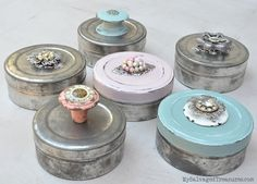 Film Canister Storage Boxes by My Salvaged Treasures, featured on Funky Junk Interiors