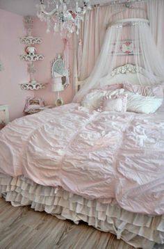 tufted blush bedding