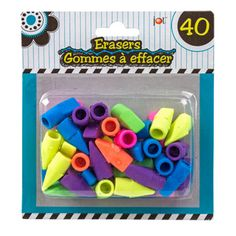 Operation Christmas Child Idea: Best Value I've found for pencil top erasers. Dollar Tree