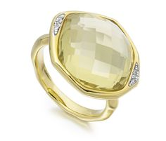 Gold Vermeil Riva Diamond Cocktail Ring