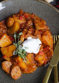Vegansk Patatas con Chorizo   Jävligt gott - vegetarisk mat och vegetariska recept för alla, lagad enkelt och jävligt gott.