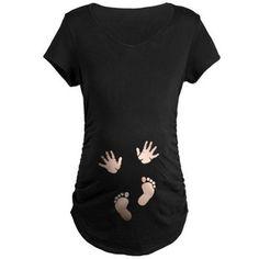 BabyHandsFeetLightSquare.png Maternity T-Shirt on CafePress.com