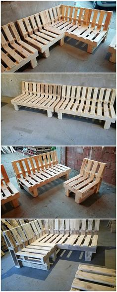This awesome creation of the wood pallet patio furniture couch set has been magically crafted for adding a perfect impact in your house outdoor areas. This long train bench designs have been made the part of this furniture set that gives out a sophisticated and glossing finishing look.