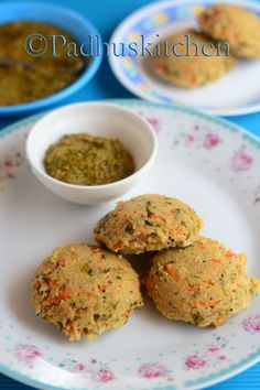 This idli with cracked wheat rava, oats and carrot is very nutritious and is loaded with fiber. It makes a filling breakfast or dinner. Enjoy it hot with any chutney of your choice.