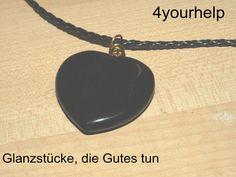 Herzanhänger - Anhänger mit großem Herz aus Obsidian - ein Designerstück von 4yourhelp bei DaWanda
