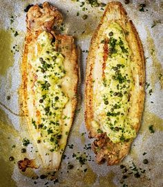 Pan Fried Dover Sole with Caper, Lemon, and Parsley Butter Sauce