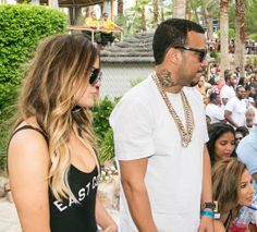 Khloe Kardashian and French Montana at REHAB