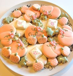 Adorable pumpkin cookie set for fall! So pretty! ~Cookies by Missy Sue~