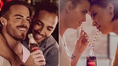 Coca-Cola featured gay couples kissing in a Hungarian ad. People are furious CNNCoca-Cola is running ads in Hungary that include images of same-sex couples Coca Cola, Gay Couple, Ads, Couples, People, Kissing, Twitter, Glass Coke Bottles, Skin Colors