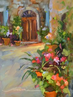 """Heading Into the Light""  Colorful Paintings of Italy and France by Artist Dreama Tolle Perry"