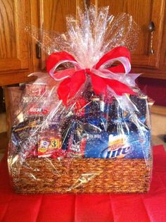 The basket I made for my husband for Valentines Day! :)