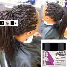 Senegalese twist with IzeyHair Argan Oil Edge Texture Control with Shaft 'n' Scalp Premium Hair Care Products