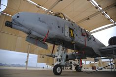 An A-10C Thunderbolt II, upgraded with a new lightweight airborne recovery system V-12, rests on the flight line at Davis-Monthan AFB, Ariz., Dec. 21, 2016. Air Force photo by A1C Mya M. Crosby.