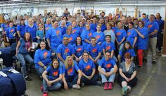 130 #OmegaApparel teammates supported #autismawareness and wore blue, autism tees, ribbon & hair bows for #liub It was so awesome to see the sea of blue thru the factory!! #TeamMiguel ☺️