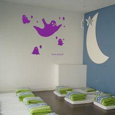 Halloween Wall Decal Ghost Dance Harry Sticker hst-0424ghost-dance【オバケのダンス】ぽわん、ぽわんとカワイイお化けが次々に出てきたよ。お菓子をちょうだーい!#Halloween#harrysticker #interior #wallsticker #homedecor #room #harryart #sticker #ウォールステッカー#ハリーステッカー#ハロウィン