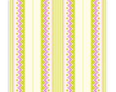 Heather Bailey Lottie Da fabric -carousel stripe in orchid -Free Spirit Fabrics - 1 Yard