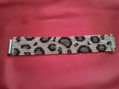 bileklikler Leopard skin peyote bracelet