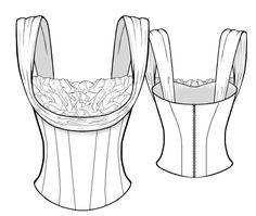 2011 Personalized Corset Sewing Pattern - Bridal Dress, Ladies Clothes, PDF pattern. $2.49, via Etsy.