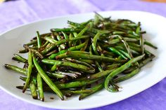 Asian-Style Stir Fried Green Beans. Very few ingredients and you can use frozen green beans if you have them on hand!