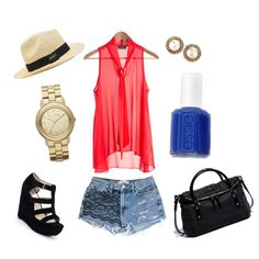 Cobalt & Candy Apple, created by giovanna-giacosa on Polyvore