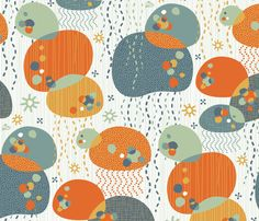 Little Jellyfish fabric by melisza on Spoonflower - custom fabric