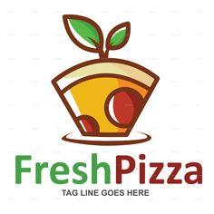 Fresh Pizza Logo Template