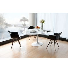 Replica Eero Saarinen Tulip Dining Table Oval - Marble by Eero Saarinen - Matt Blatt
