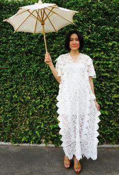 Upcycled Lace Dress/ Lace Dress/ Lace Kaftan/ Vintage Lace Recycled Dress, Kaftan Dress, Boho Dress, White Lace Dress, Peasant Dress, Tunic by hisandhervintage on Etsy