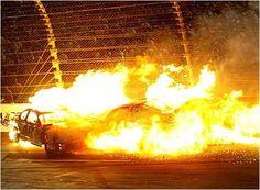 Fiery crash in turn 3 Nascar Crash, Nascar Racing, Nascar Wrecks, Old Vintage Cars, Chevrolet Monte Carlo, Finish Line, Motocross, Sports, Easy