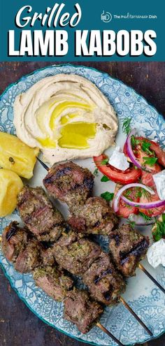 Don't miss this recipe! A special Mediterranean marinade that tenderizes and flavors the meat, plus grilling technique, make succulent, juicy lamb kabobs every time! Kabob Recipes, Grilling Recipes, Fish Recipes, Cooking Recipes, Meat Recipes, Mediterranean Dishes, Mediterranean Diet Recipes, Lamb Dishes, Food Dishes