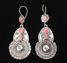 E0336 Vintage Style Tribal Kuchi Earrings by 7SISTERStradingco