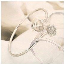 B44 rhinestone love bracelet bracelet silver 925 colour bangles accessories for woman   (MIN order $10 mixed order)