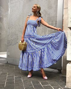 Laura Wills ( Dress Outfits, Casual Dresses, Fashion Dresses, Summer Dresses, Striped Maxi Dresses, Cotton Dresses, Indian Designer Outfits, Buy Dress, Clothes