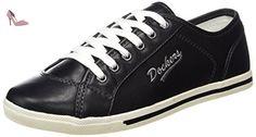 Dockers by Gerli 27ch221-610100, Sneakers Basses Femme, Noir (Schwarz), 38 EU - Chaussures dockers by gerli (*Partner-Link)