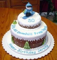 Resultado de imagen de fondant ski cakes