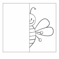 symmetry worksheets - Saferbrowser Yahoo Image Search Results a bee Grade R Worksheets, Symmetry Worksheets, Symmetry Activities, Bug Activities, Drawing Activities, Kindergarten Activities, Preschool Activities, Art Drawings For Kids, Drawing For Kids