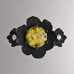 Nature Classic 14K Black Gold 1.0 Ct Yellow by GormanDesigns