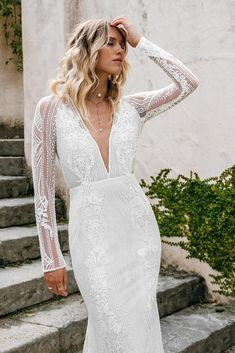 Untamed Heart | The Brand New Wedding Dress Collection from Lovers Society Lace Wedding, New Wedding Dresses, Formal Dresses, Gowns, Lovers, Dress Collection, Bell Sleeves, Backless, Elegant Bride