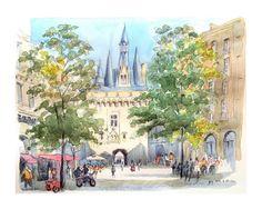 https://flic.kr/p/oPENim   croquis: Bordeaux - France - Porte Cailhau   croquis bic sur place, aquarelle de retour / on location bic sketch, wash back home