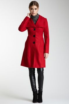 GUESS  Spread Collar Long Coat! I have this coat and I loooove it!!!
