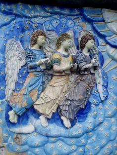 Anjos musicais, louçaria, Portugal, Escadaria do  Santuário do Sameiro, Braga.
