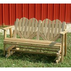 Amish Outdoor Furniture Heart Back 4ft. Well Made Patio Glider