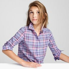 A cute and colorful plaid shirt with a slightly longer length—perfect for…