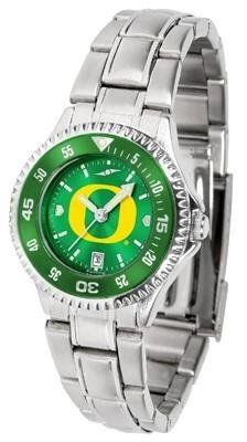 Oregon Ducks Women's Stainless Steel Dress Watch by SunTime. $88.95. Stainless Steel. Women. Links Make Watch Adjustable. Water Resistan. Officially Licensed Oregon Ducks Women's Stainless Steel Dress Watch. Oregon Ducks Women's stainless steel watch. This Ducks dress watch with rotating bezel color-coordinated to compliment your favorite team logo. The Competitor Steel utilizes an attractive stainless steel band. Perfect for any occasion, whether casual or formal. Goes great ...