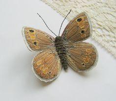 False Grayling butterfly brooch.